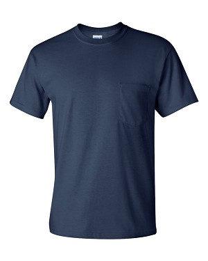 Service Navy 100% Cotton T-Shirt with Pocket